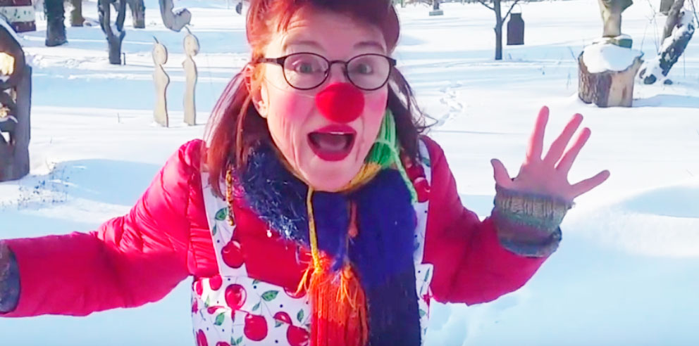 Wilma im Schnee, Video von wilmas-theater-welt.de, Birgit Klinksieck, Petershagen
